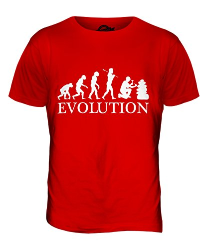 CandyMix Geologie Evolution Des Menschen Herren T Shirt Rot