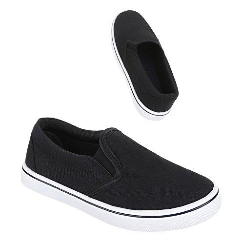 Kinder Schuhe, 943-1, BALLERINAS LEICHTE SLIPPER Schwarz