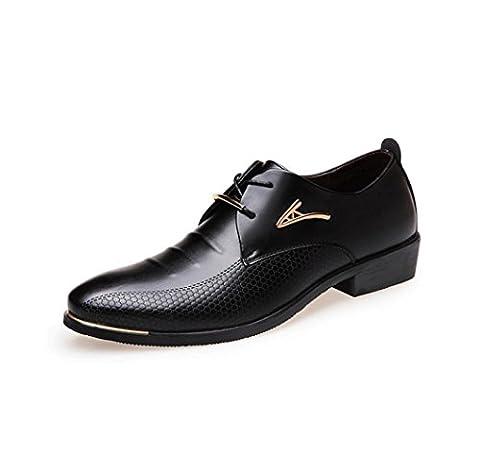 HYLM The New Dress Shoes Hommes Chaussures Casual Chaussures à lacets Chaussures de mariage Chaussures de banquet , black , 46