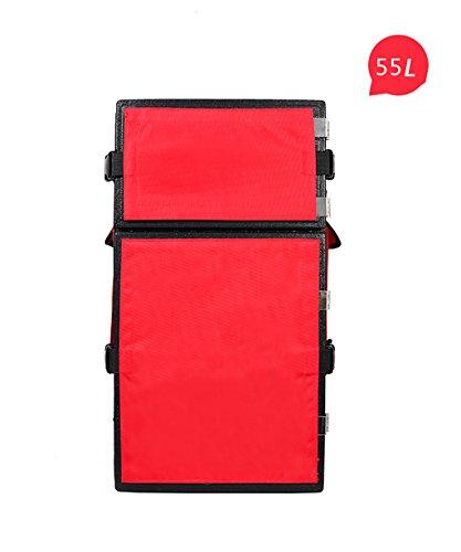 Liqicai borsa per consegna alimentare a scomparsa frigorifero - multi purpose (colore : rosso, dimensioni : a-55l)