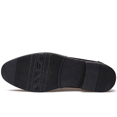 Mens Mostrou De Preto Grrong Formal Sapatos Vestido Marrom Couro Preto Negócios IwfwqdS
