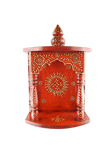 Chave India Home Temple / Wooden Temple / Pooja Mandir / Mandap / Wooden Temple / Mandir with beautiful Rajasthani emboss work on it  available at amazon for Rs.997