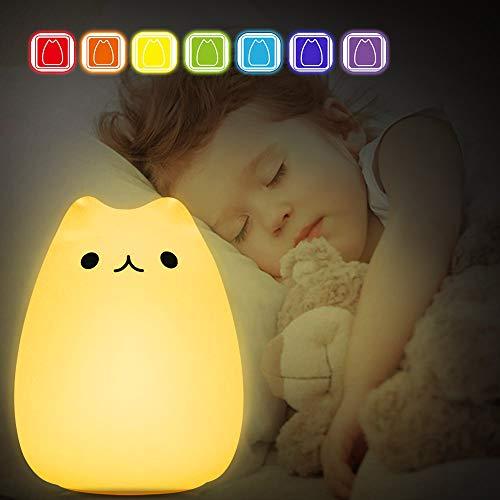 LED Nachtlicht Kinder, omitium Baby Nachtlampe Touch Lampe mit Farbwechsel Nachtlicht USB Wiederaufladbare Nachttischlampe fürs Schlafzimmer und Wohnräume, Stimmungslicht, Dekoratives Nachtlicht