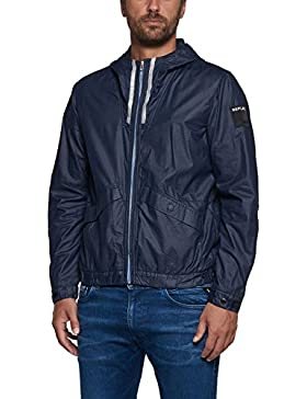Replay Men's Navy Blue Hooded Jacket