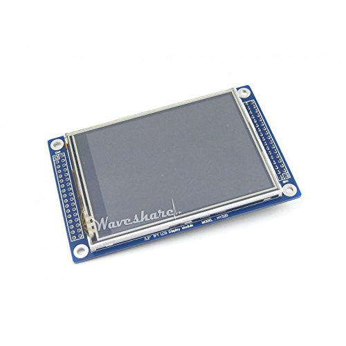 TFT 320*240 Resolution 3.2 Inch DOTS Multicolor Graphic LCD, Backlight LED. with Touch Screen and Stand-Alone Controllers,SPI Interface, LCD Interface 16-Bit Parallel,Colors 65536
