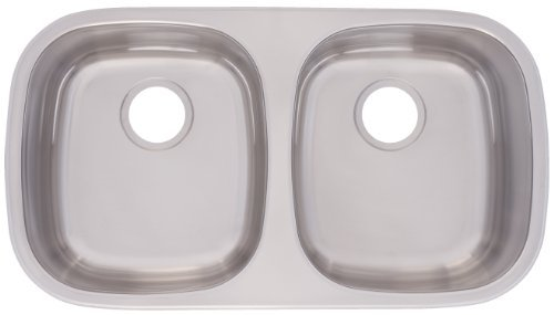Kindred FUDG800-18BX Large Double Bowl Stainless Steel 29.5 x 15.5-Inch Under-mount Sink by FrankeUSA - Mount Undermount Sink