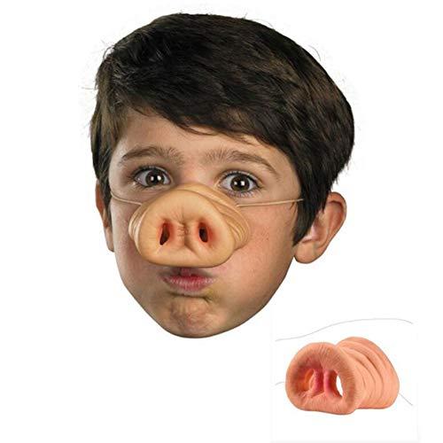 HuhuswwBin Halloweenmaske Schweinchen Nase Kostüm Schnauze Erwachsenen Kinder Halloween Cosplay Party Lustige Maske Multi