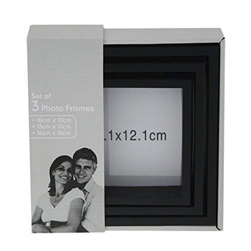 Ardisle nero 3 pezzi famiglia multi Picture Photo Frame parete Cornici Set Foto Collage