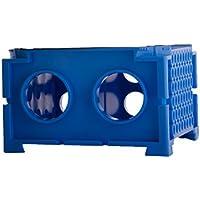 Moonlab-4-0005 Rotating Vario-Rack für Reaktionsgefäße, PP, autoklavierbar, 109 mm x 68 mm x 109 mm, Blau