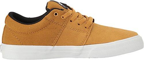 Enfants Chaussures de skateboard Supra Stacks Vulc II Skate Shoes Boys yellow