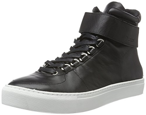 K-Swiss High Court, Baskets Basses Homme Noir (Black/Off White)