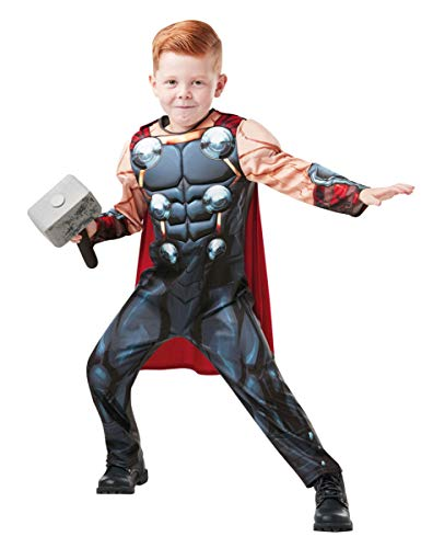 Thor Fancy Dress Kostüm - Rubie's 640836 M Marvel Avengers Thor Deluxe Kind Kostüm, Jungen, Medium