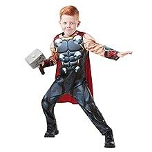 Rubie's 640891 9-10 Marvel Avengers Thor Deluxe Child Costume, Boys, One Size