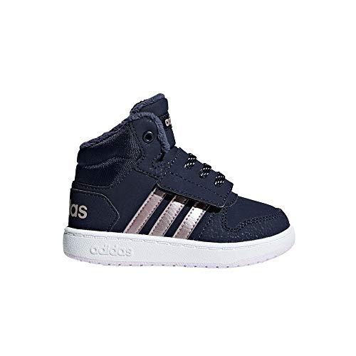 adidas Unisex Baby Hoops Mid 2.0 Sneaker, Blau Legink/Vagrme/Trablu, 24 EU