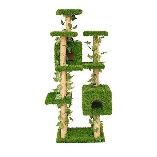 Pet nido gatto arrampicata telaio mensola gatto in legno massello nido gatto arrampicata gatto telaio gatto villa grande gatto telaio gatto albero salto gatto gatto cornice rampicante - verde