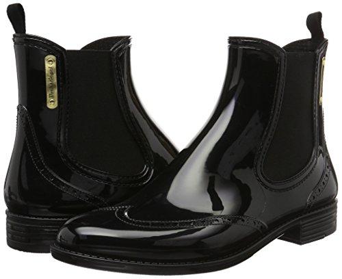 BOCKSTIEGEL® CHELSEA Femmes - Demi Bottes en caoutchouc élégant | Chelsea Bottes | Étanche | Élégant | Design exclusif Black