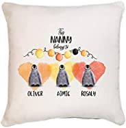 This Nanny belongs to cushion cover with grandchildren names/Little penguins/Personalised grandma gift/Granny,