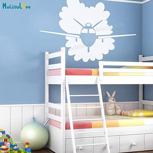 woyaofal Schöne Wandtattoos Fliegende Flugzeug Tapete Aufkleber Wohnkultur Für Kinder Baby Raumdekoration Selbstklebende Vinyl Nette Wandbilder 85x56 cm