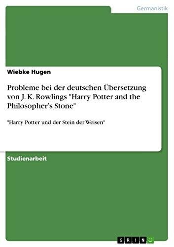 Probleme bei der deutschen Übersetzung von J. K. Rowlings
