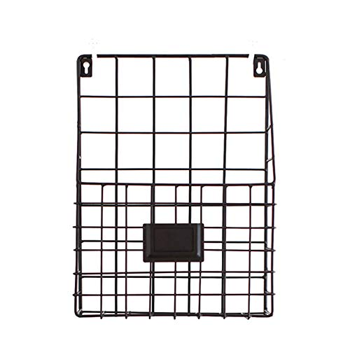 Wand-Datei-Magazin-Aufbewahrungsbox, Zeitungsladen Kreativer Speicher Korb, 2-Pack, Größe 26,5 * 8 * 35,5 Cm, Schwarz -