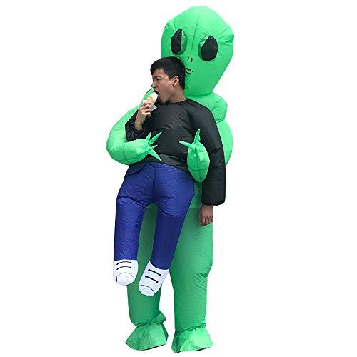 Joylora Aufblasbares Kostüm für Unisex Alien Cosplay-Kostüm Requisiten Fantasiekostüm für Kinder Aufblasbare Halloween Kleidung Walking Show Lustige Great Illusion Fancy Dress Outfit One Size ()
