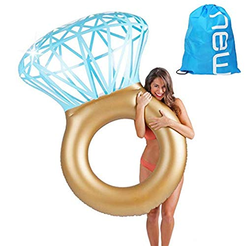 Baby Pig Anello da nuoto gigante, zattera galleggiante per piscina gonfiabile, sdraio da spiaggia per bambini all\'aperto, sedia da ricreazione per bambini (Diamante)