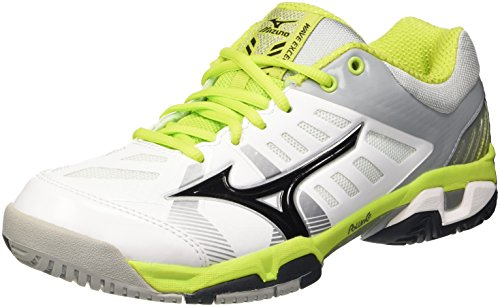 Mizuno Wave Exceed Sl Ac, Chaussures de Tennis Homme Blanc Cassé - Bianco (White/Black/Limepunch)