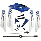 Full Replacement Parts Set for Syma S107 / S107G RC Helicopter, Main Blades,Tail Decorations,Tail blade,Balance Bar,Connect Buckle, Inner Shaft. Red Set.