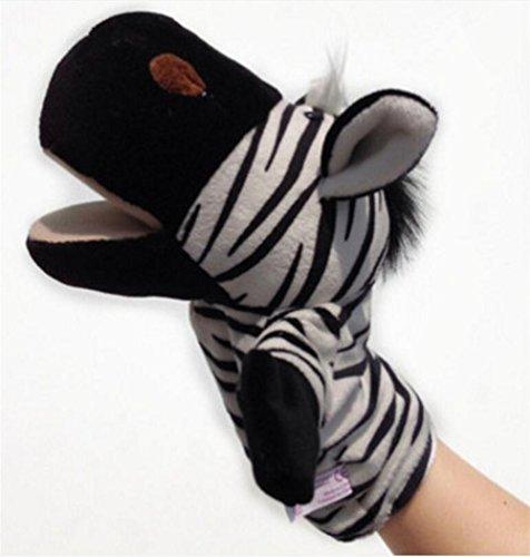 Genven Niedlichen Plüsch Velour Tiere Handpuppen Chic Designs Kind Kind Lernhilfe Spielzeug (Zebra) (Zebra-plüsch-spielzeug)