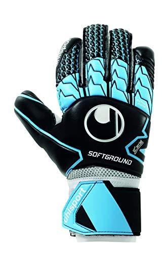 guanti da portiere uhlsport uhlsport Soft HN Comp Guanti da Portiere Juventud Unisex Nero/Sky Blue/White