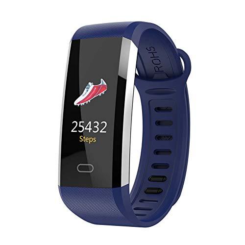 Sguan-wu Sport Herzfrequenz Blutdruck Schritt Fitness Tracker Smart Armband Armband - Blau