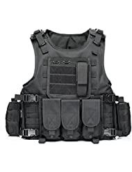 YAKEDA® Ventilateurs Ventilateurs Armée tactique Vest Cs Champ Swat Tactical Army Vest Vest extérieure Cs Jeu Vest cosplay de Counter Strike Jeu Vest-322