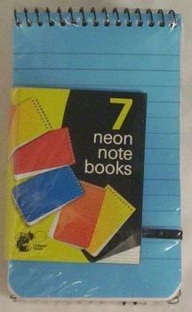 7 x Neon Notizblöcke