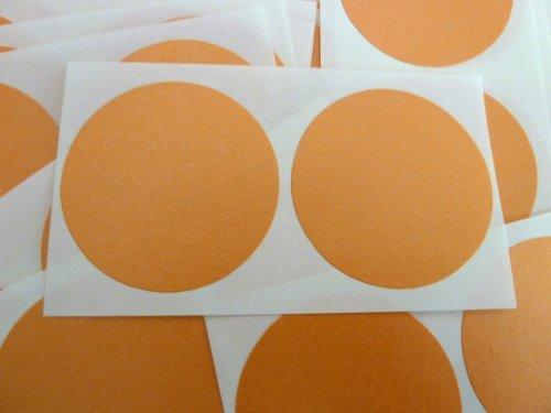Minilabel - Puntos adhesivos (50 unidades, diámetro 50 mm), color naranja y blanco
