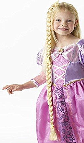 Rapunzel Kinder Kostüm Zubehör Zopf Perücke Disney