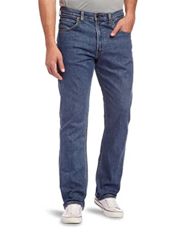 Lee Brooklyn - Jeans - Droit - Homme, Bleu (MID STONEWASH), 32W / 32L
