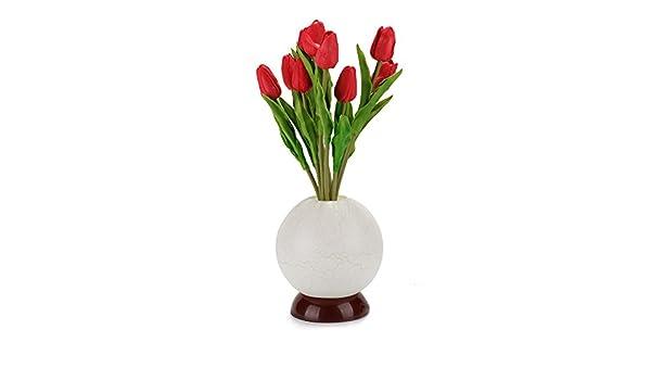 Lampada Fiore Tulipano : Hycc illuminati fiori led artificiali tulipano con il vaso morbida