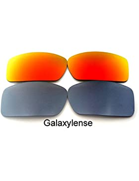 Galaxylense lentes de repuesto para Oakley Gascan gris y rojo Color Polarizados 2 Pares,GRATIS S & H - gris y...