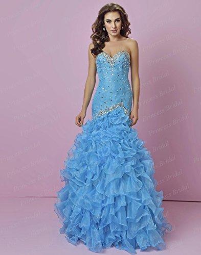 CoCogirls Lang Schatz Ausschnitt Maßanfertigt Meerjungfrau Etui Ballkleid  Abendkleid Damen Ballkleider Blue