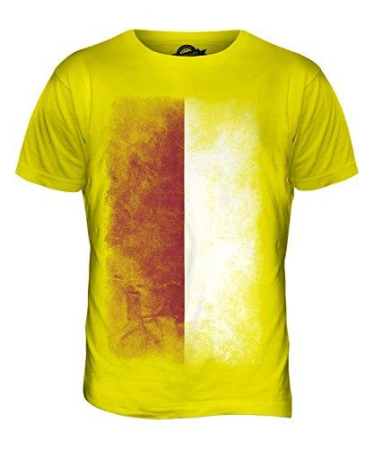 CandyMix Indonesien Verblichen Flagge Herren T Shirt Zitronengelb