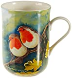 Maxwell & Williams Birds of the World Kaffeebecher, Porzellan, Mehrfarbig, 10,5 x 7,5 x 10,5