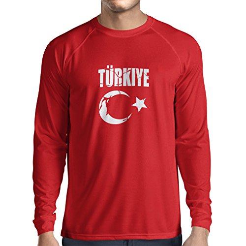lepni.me Herren T Shirts Türkei Türkisches Wappen Politisches Design Türkiye Cumhuriyeti (XX-Large Rot Weiß)