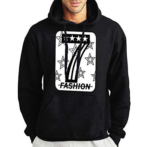 ITISME TOPS Herren Herbst Winter Casual Print Langarm Hoodies Pullover Sweatshirt Top Winter Warm halten