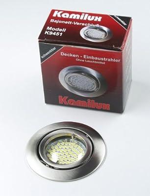 10 x SMD LED Einbauleuchte Einbauspot Einbaustrahler Bajo 230V edelstahl-gebürstet inkl. Fassung GU10 u. SMD LED Leuchtmittel 60er Warmweiss von Kamilux GmbH bei Lampenhans.de