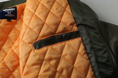 AVIDACE klassische Bomber Jacket Men Nylon gepolstert mit Patches Gesticktes - 5