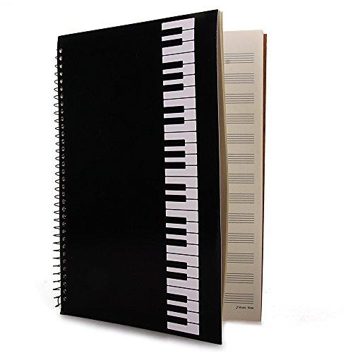 FACILLA® Cahier de musique portées partition manuscrit à spirales 40 pages