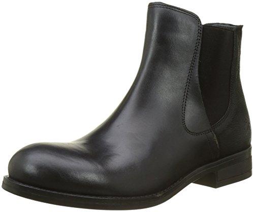 FLY London Damen Alls076fly Chelsea Boots, Schwarz (Black), 40 EU (Boots High Womens Flach)