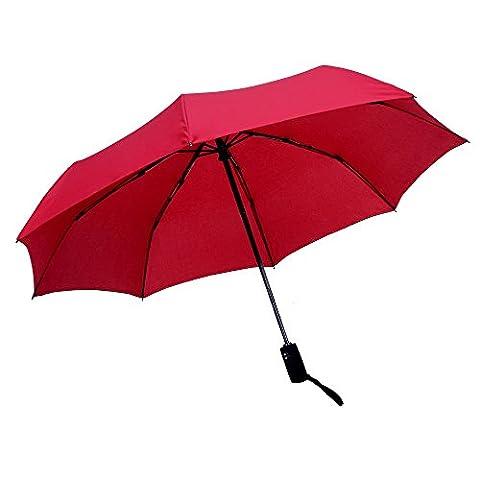WILLIAM&KATE Bigger Windproof 8 Bone Durable Three Fold Fully Automatic Business Umbrella