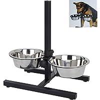 Smartweb Fressnapf Hundenapf Höhenverstelbar inkl. 2 x 1,8 Liter Näpfen Futternapf Katzennapf Wassernapf