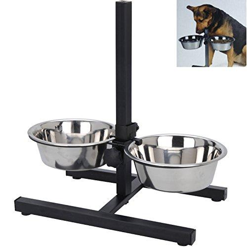 Fressnapf Hundenapf Höhenverstelbar inkl. 2 x 1,8 Liter Näpfen Futternapf Katzennapf Wassernapf Smartweb
